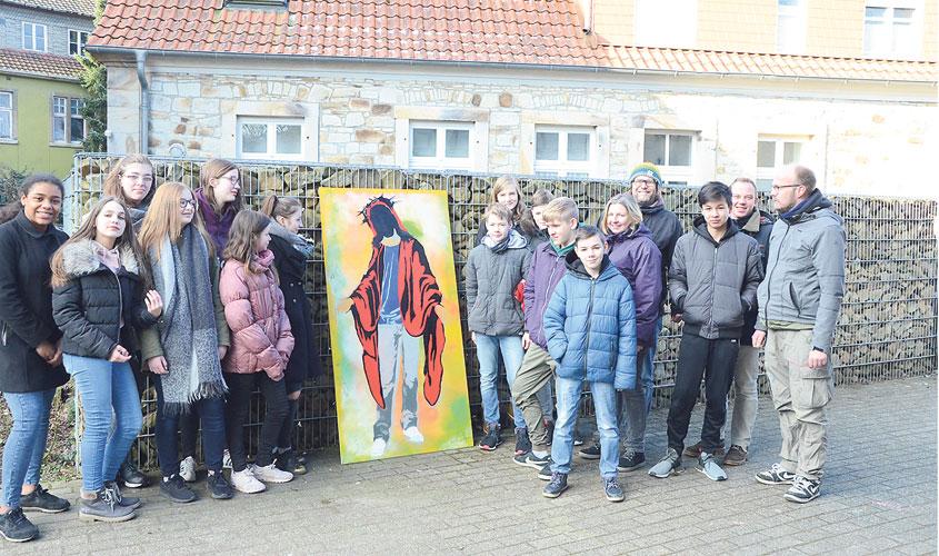 Osnabrücker Künstler frostige finger für coolen jesus